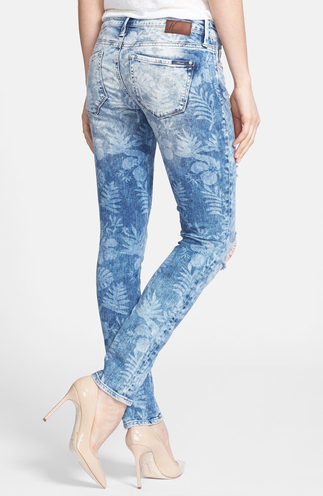 Alternate Image 2  - Mavi Jeans 'Alexa Vintage' Distressed Stretch Skinny Jeans (Artist Vintage)