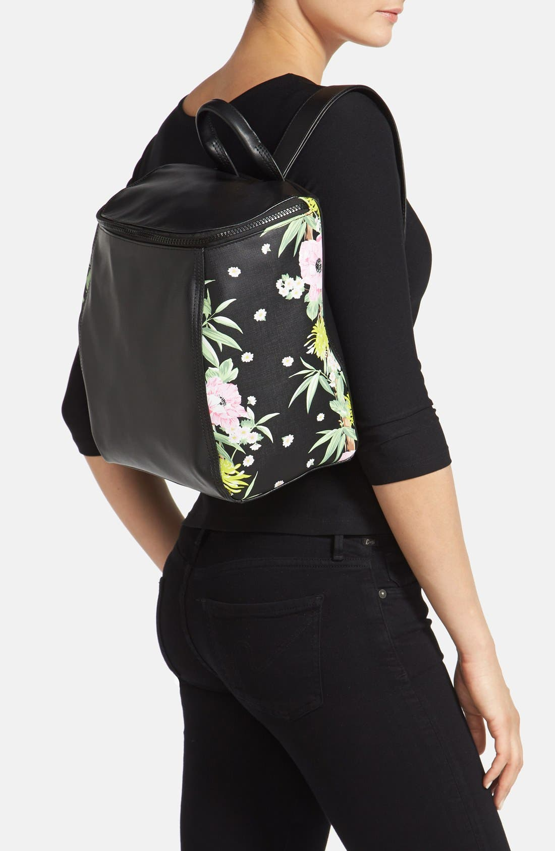Alternate Image 2  - French Connection 'Prim Lady' Faux Leather Backpack