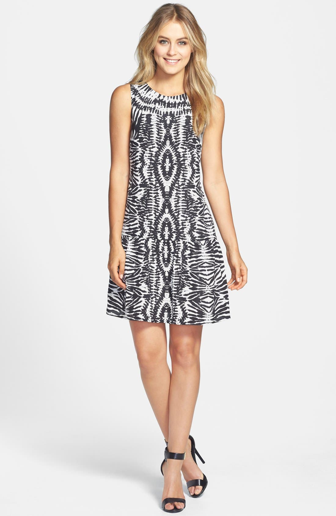 Alternate Image 1 Selected - Vince Camuto 'Tribal Impressions' Sleeveless Dress