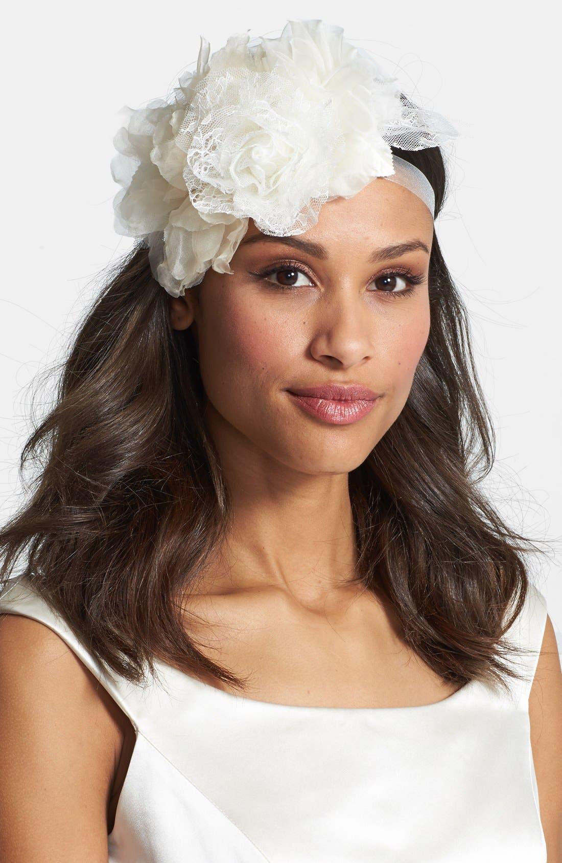 Alternate Image 2  - twigs & honey Silk Lace Triple Flower Belt