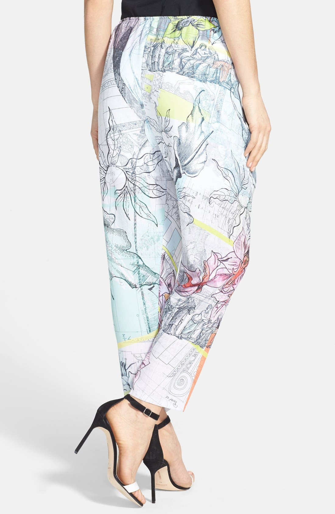 Alternate Image 2  - Clover Canyon 'Floral Line Drawing' Print Tie Waist Pants