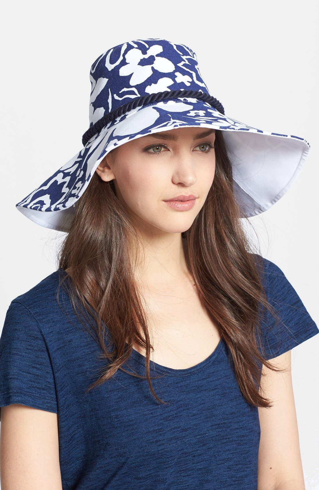 Main Image - kate spade new york print floppy hat