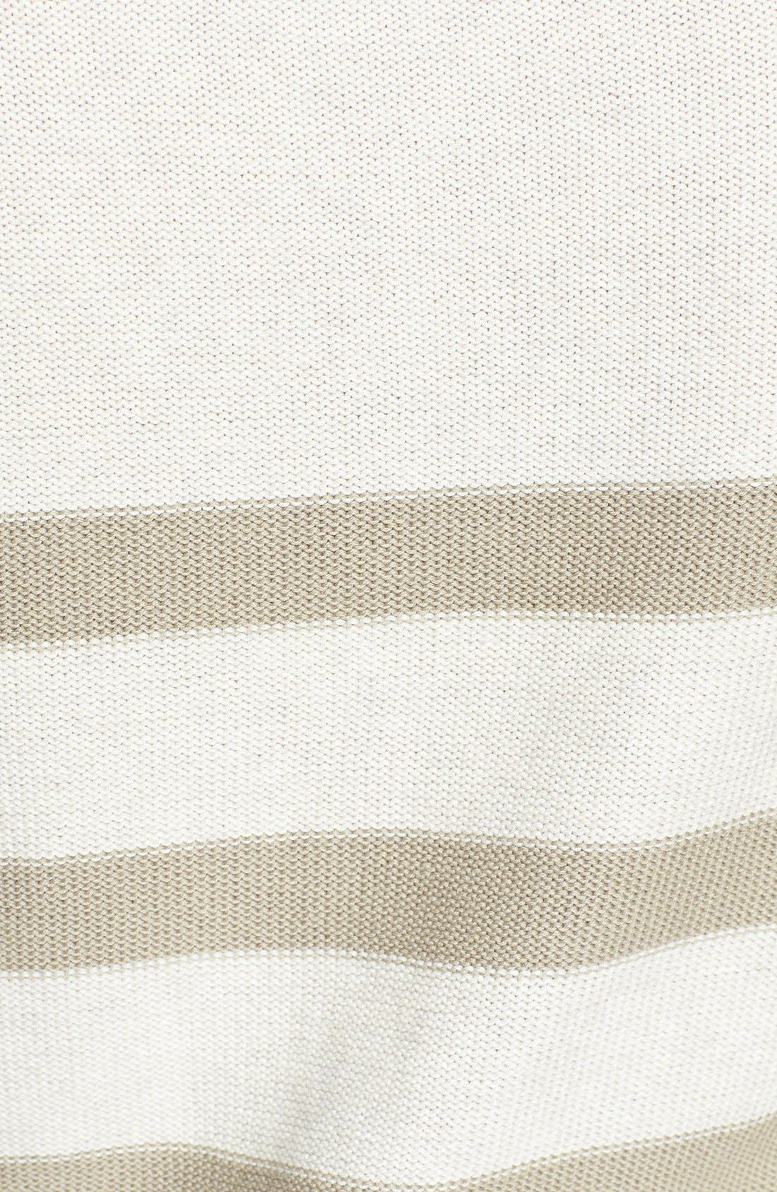 Alternate Image 3  - Caslon® Three Quarter Sleeve Stripe Cotton Sweater