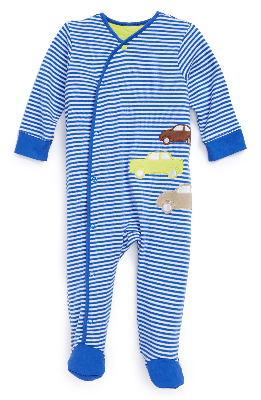 Main Image - Offspring 'Car Park' One-Piece (Baby Boys)