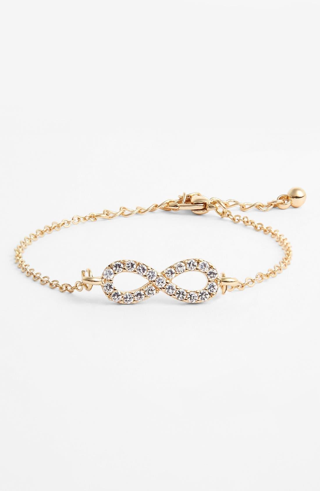 Alternate Image 1 Selected - Topshop Pavé Infinity Line Bracelet