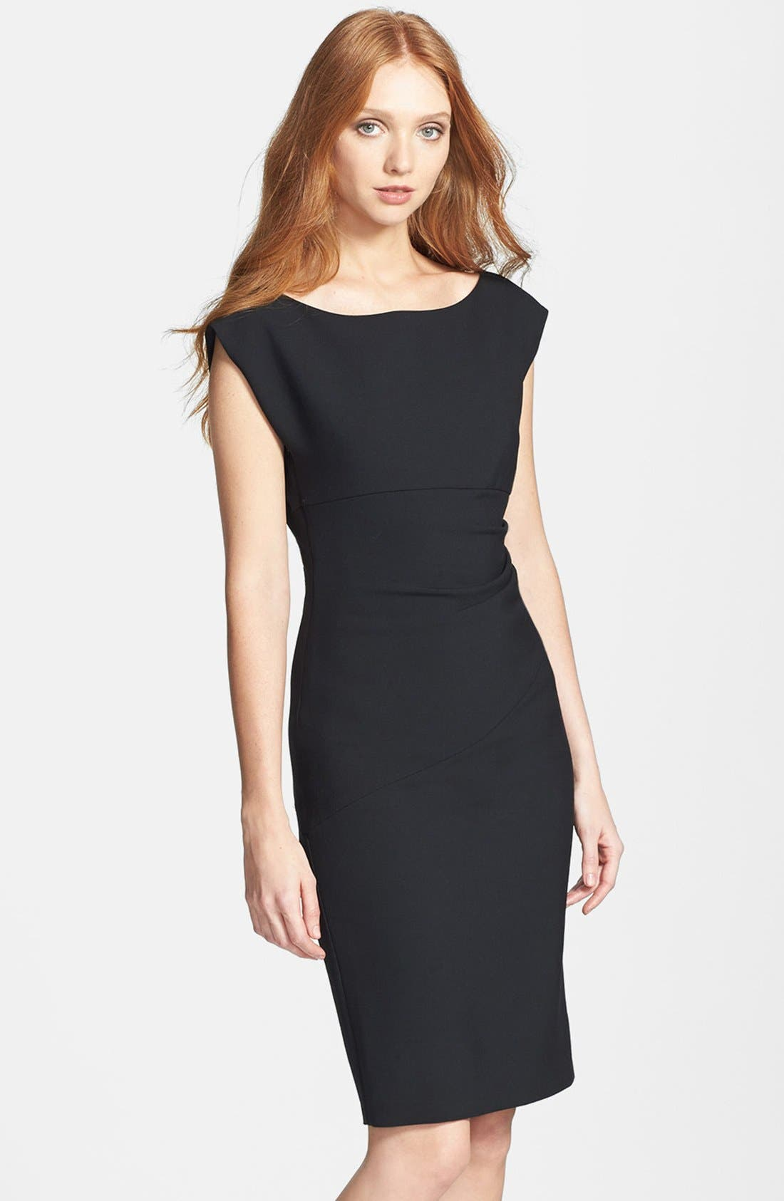 Alternate Image 1 Selected - Diane von Furstenberg 'Jori' Ruched Sheath Dress