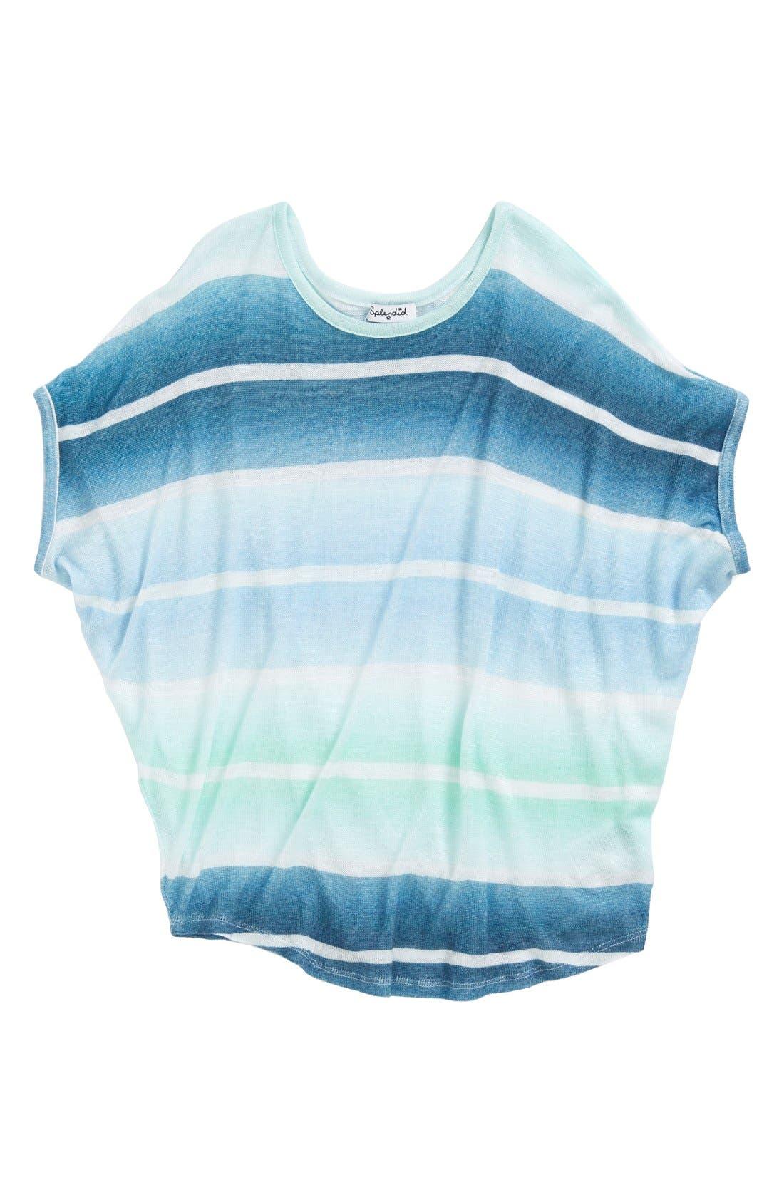 Alternate Image 1 Selected - Splendid Oversize Dolman Sleeve Stripe Top (Big Girls)