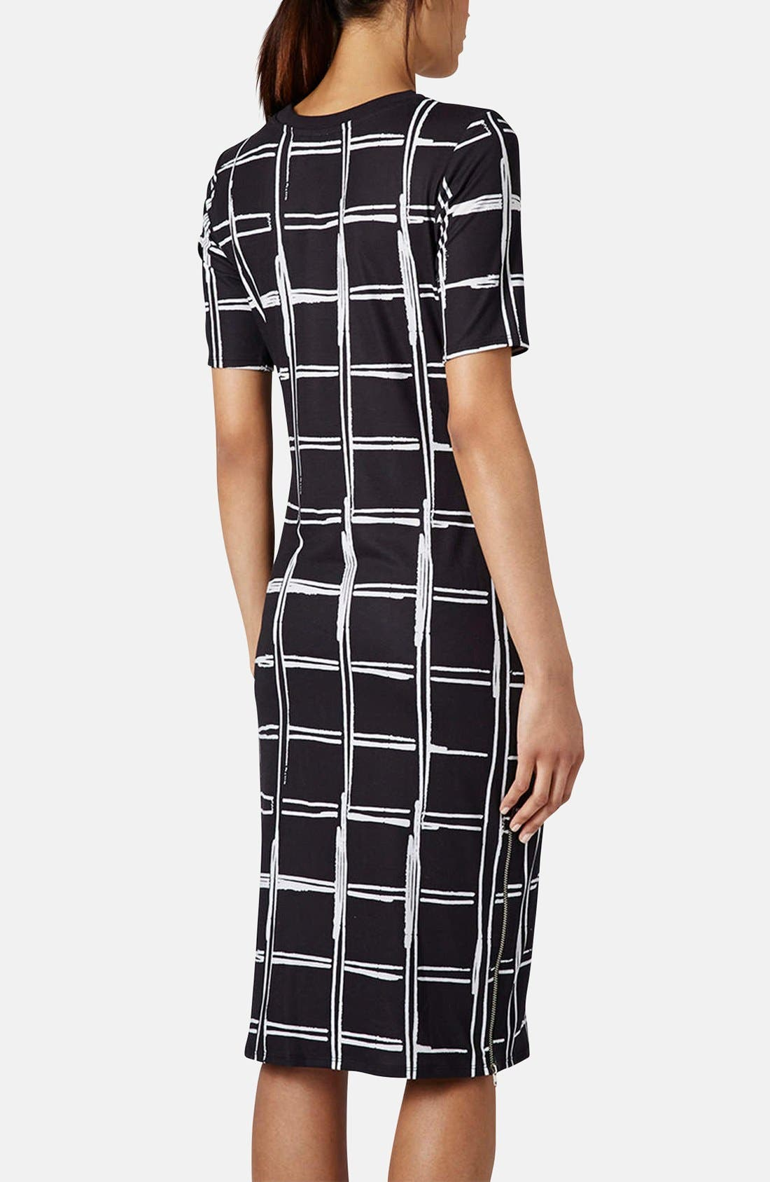 Alternate Image 2  - Topshop Grid Pattern Midi Dress
