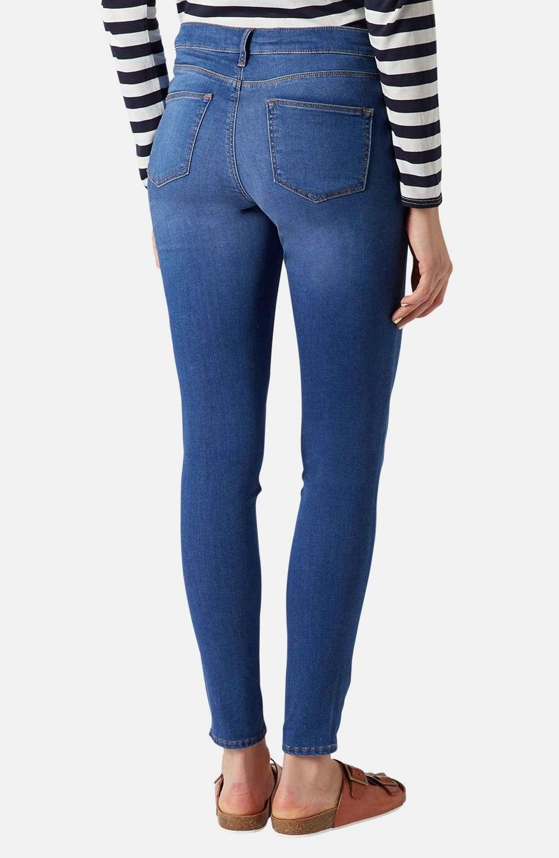 Alternate Image 2  - Topshop 'Leigh' Maternity Skinny Jeans (Regular and Short)