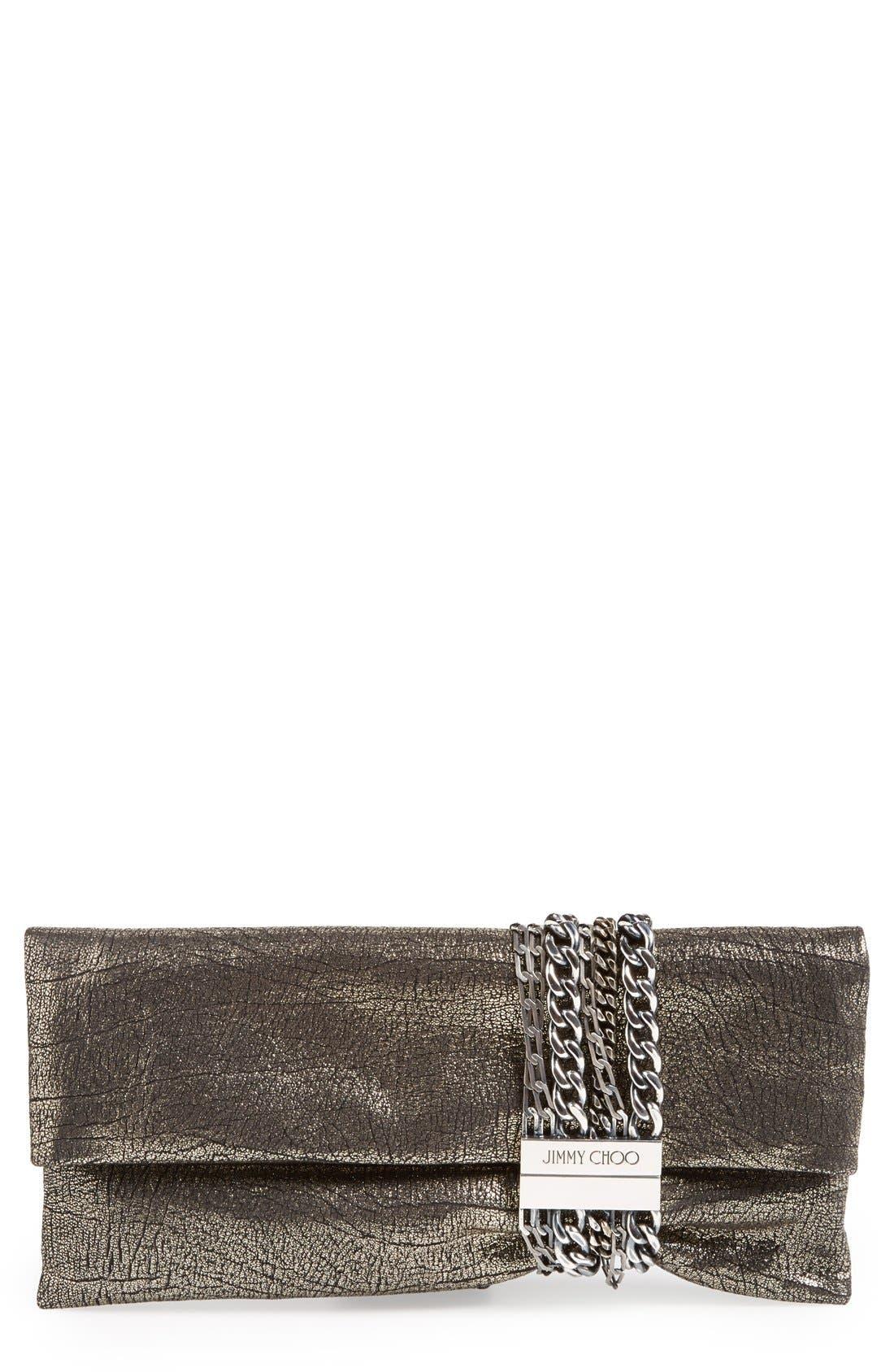 Main Image - Jimmy Choo 'Chandra' Leather Clutch