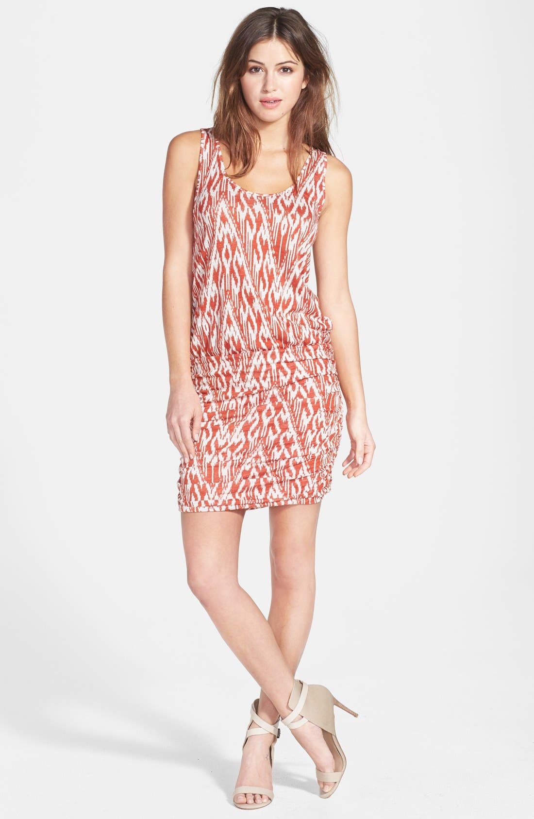 Alternate Image 1 Selected - Soft Joie Print Ruched Skirt Minidress