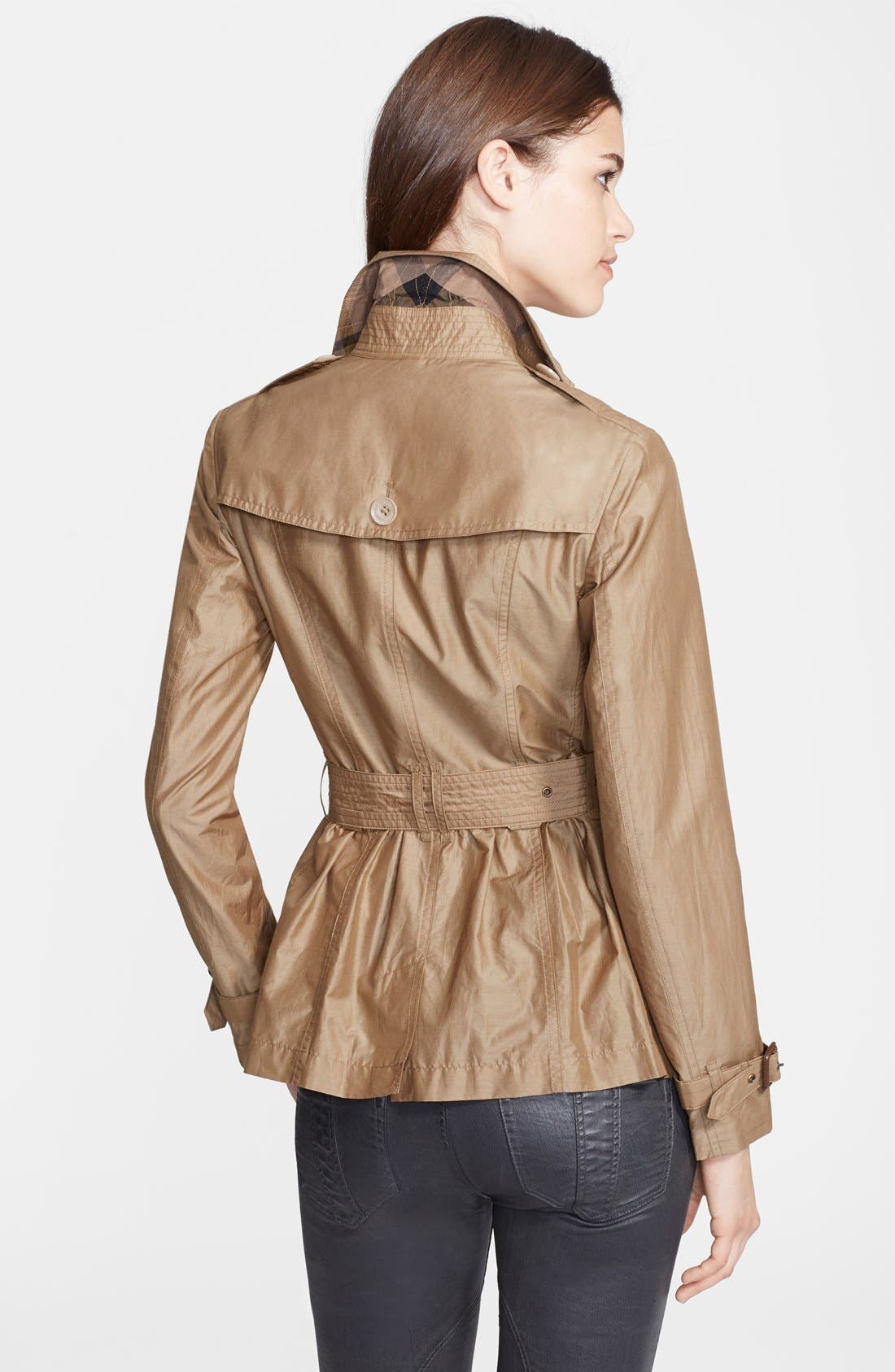 Alternate Image 2  - Burberry Brit 'Harpsfield' Cotton & Silk Double Breasted Jacket