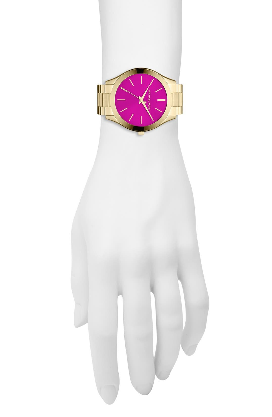Alternate Image 4  - Michael Kors 'Slim Runway' Bracelet Watch, 42mm