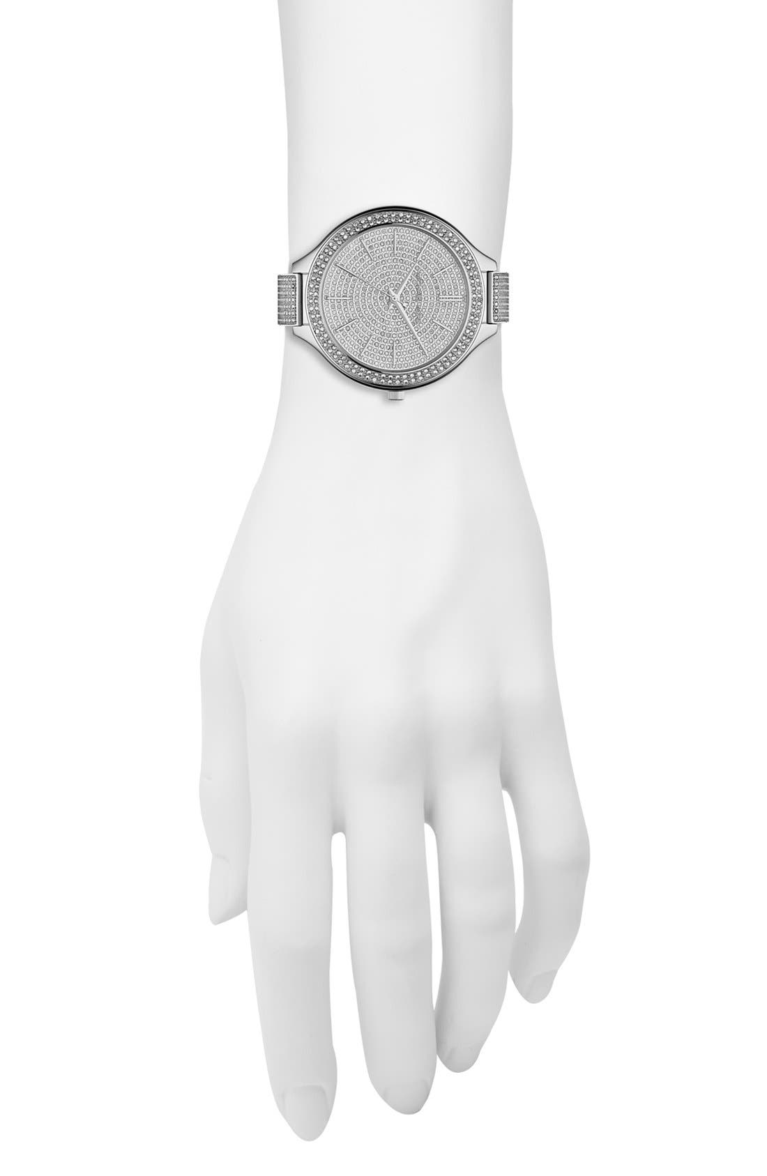 Alternate Image 2  - Michael Kors 'Slim Runway' Pavé Crystal Bangle Watch, 43mm