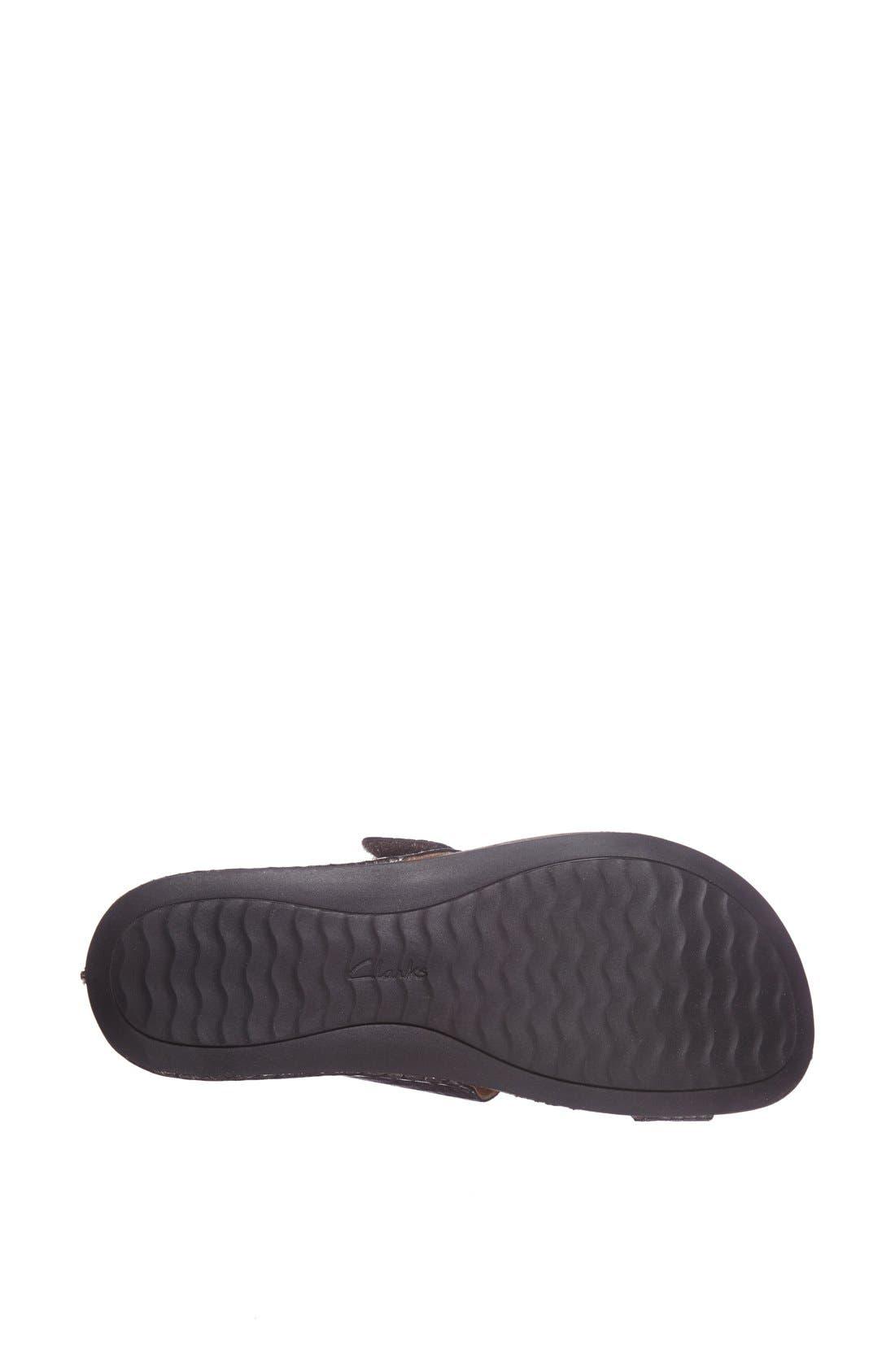 Alternate Image 4  - Clarks® 'Perri Coast' Leather Thong Sandal