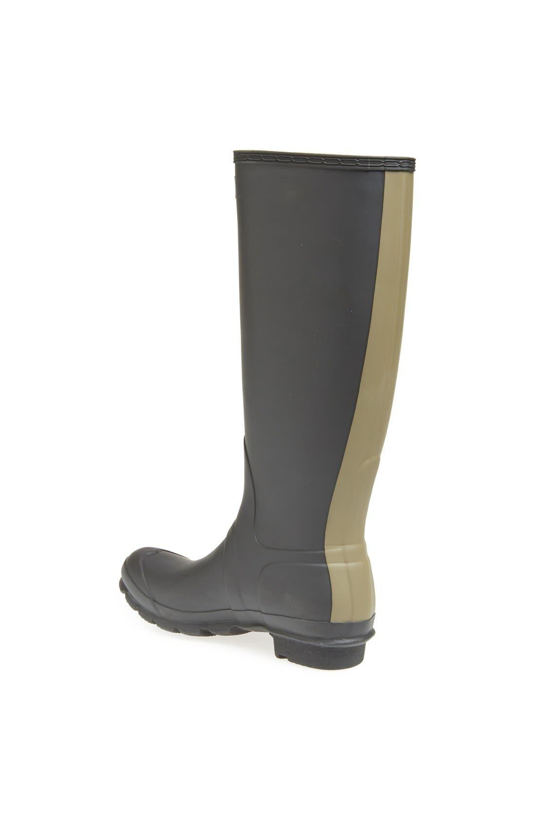 Alternate Image 2  - Hunter 'Original - Stripe' Waterproof Rain Boot (Women)