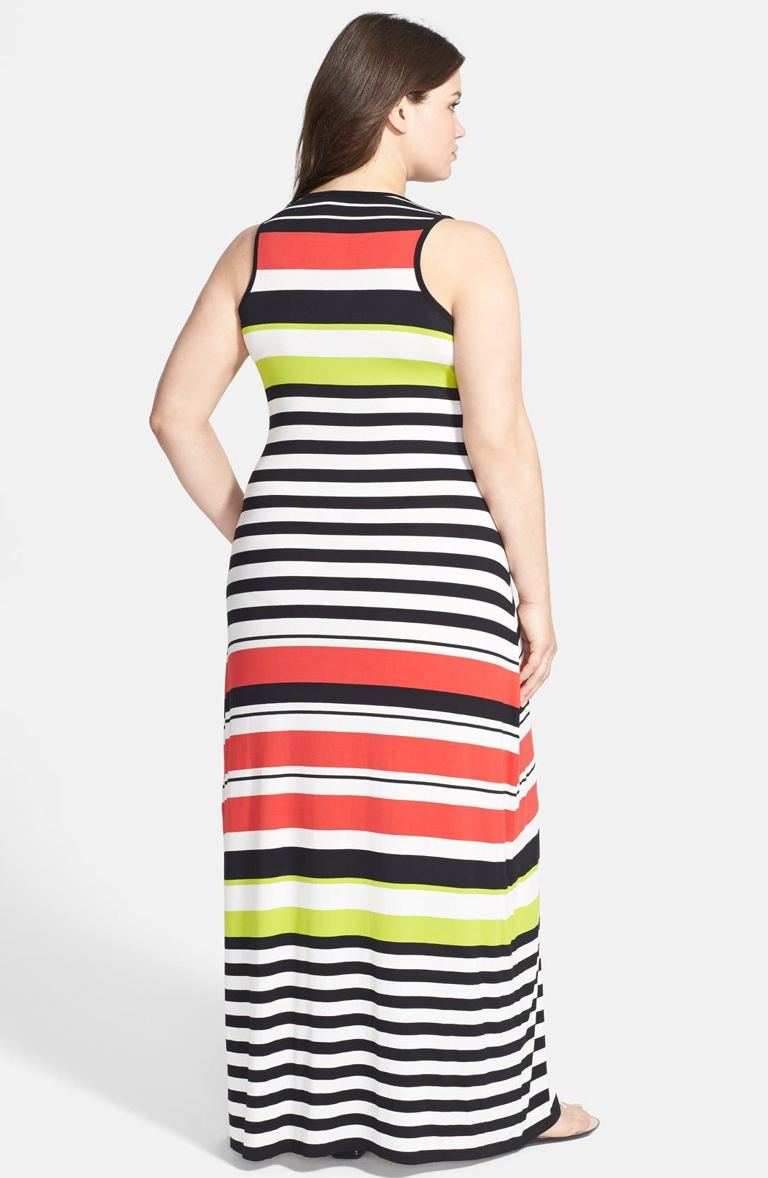 Alternate Image 2  - Vince Camuto Multi Stripe Maxi Dress (Plus Size)
