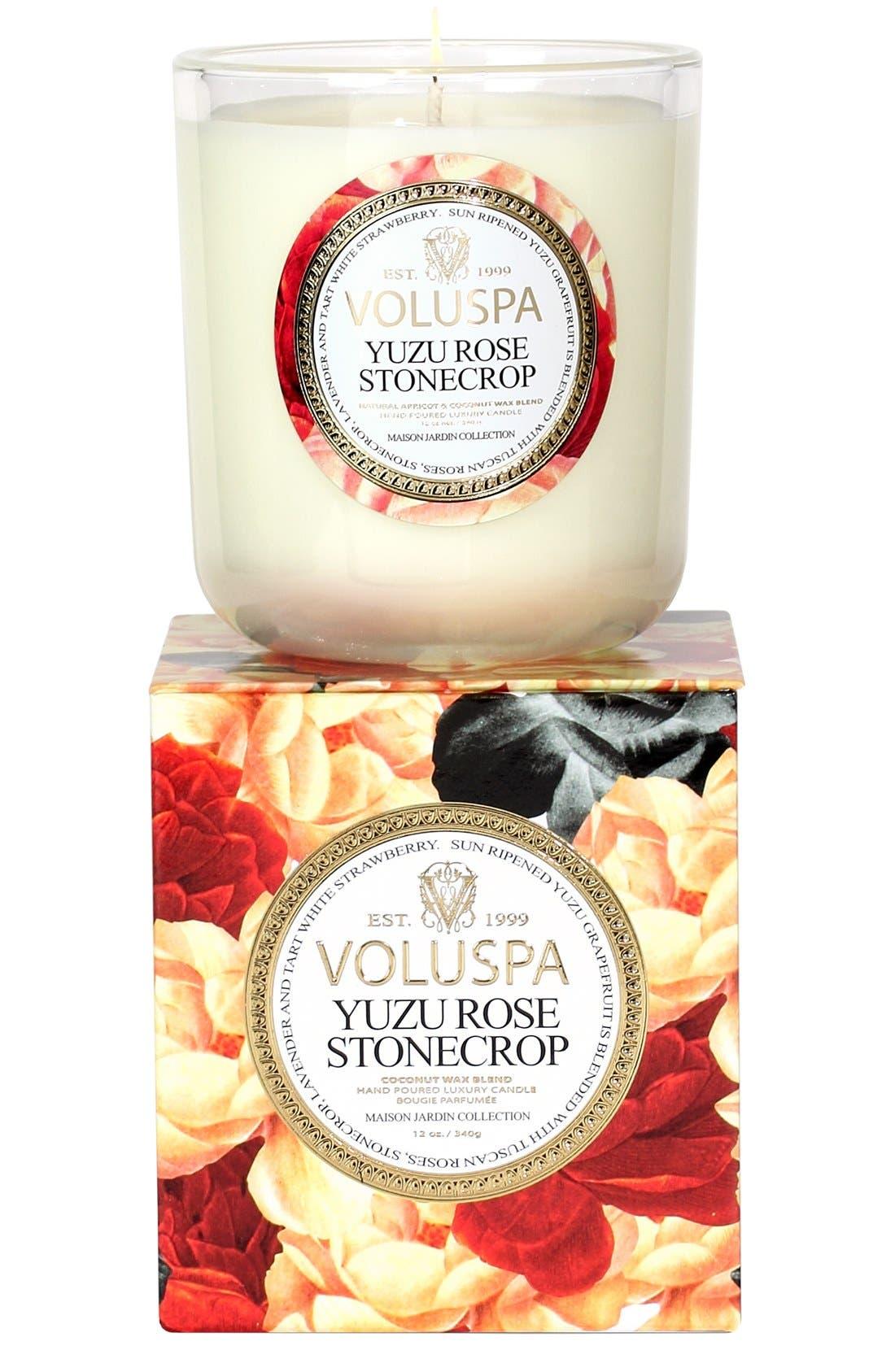 Main Image - Voluspa 'Maison Jardin - Yuzu Rose Stonecrop' Scented Candle