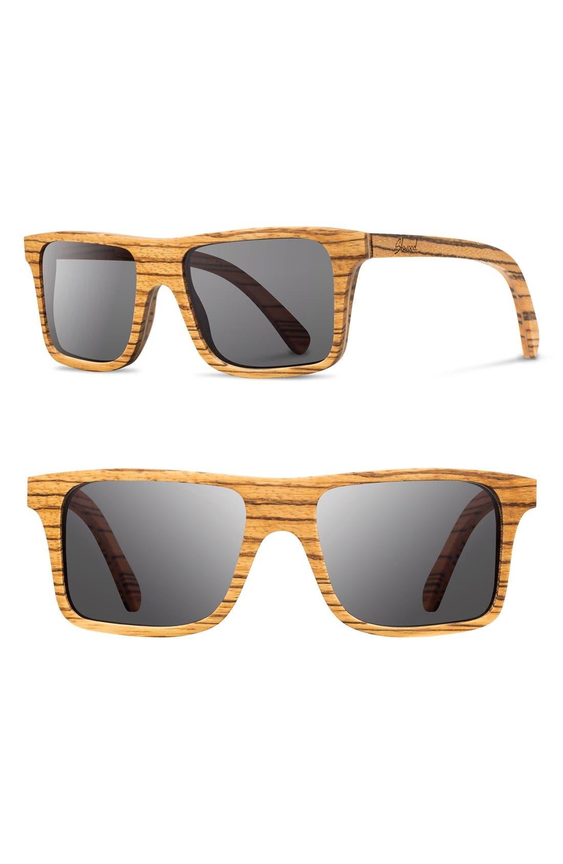 Alternate Image 1 Selected - Shwood 'Govy' 53mm Wood Sunglasses