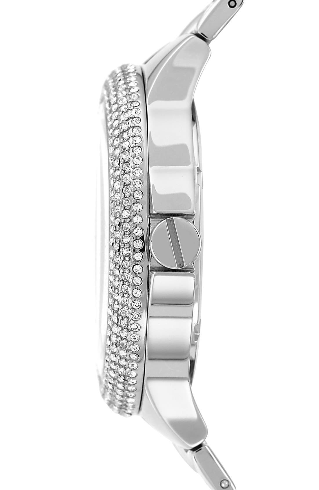 Alternate Image 3  - Vince Camuto Crystal Bezel Multifunction Bracelet Watch, 42mm