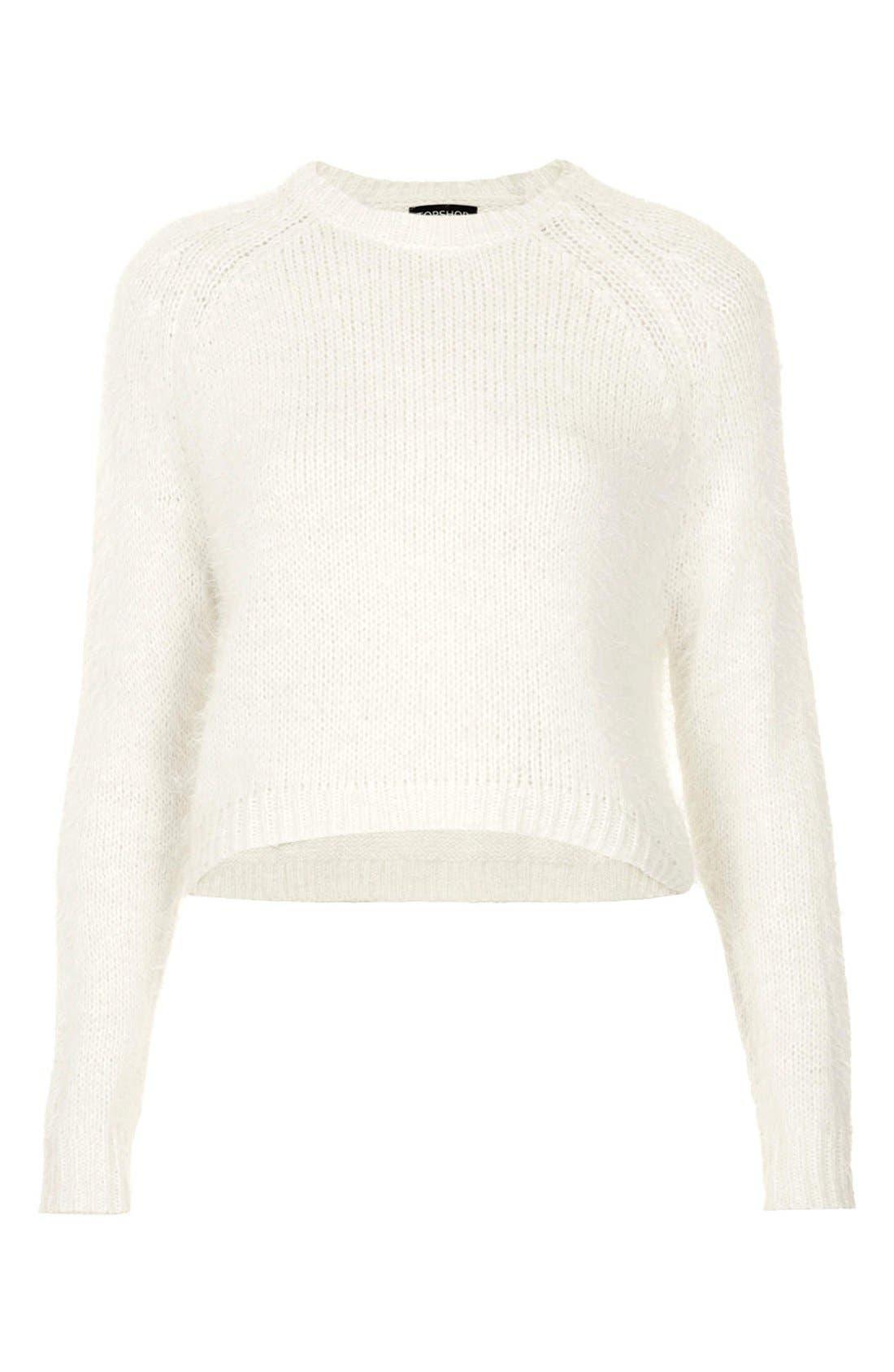Alternate Image 3  - Topshop Textured Knit Sweater