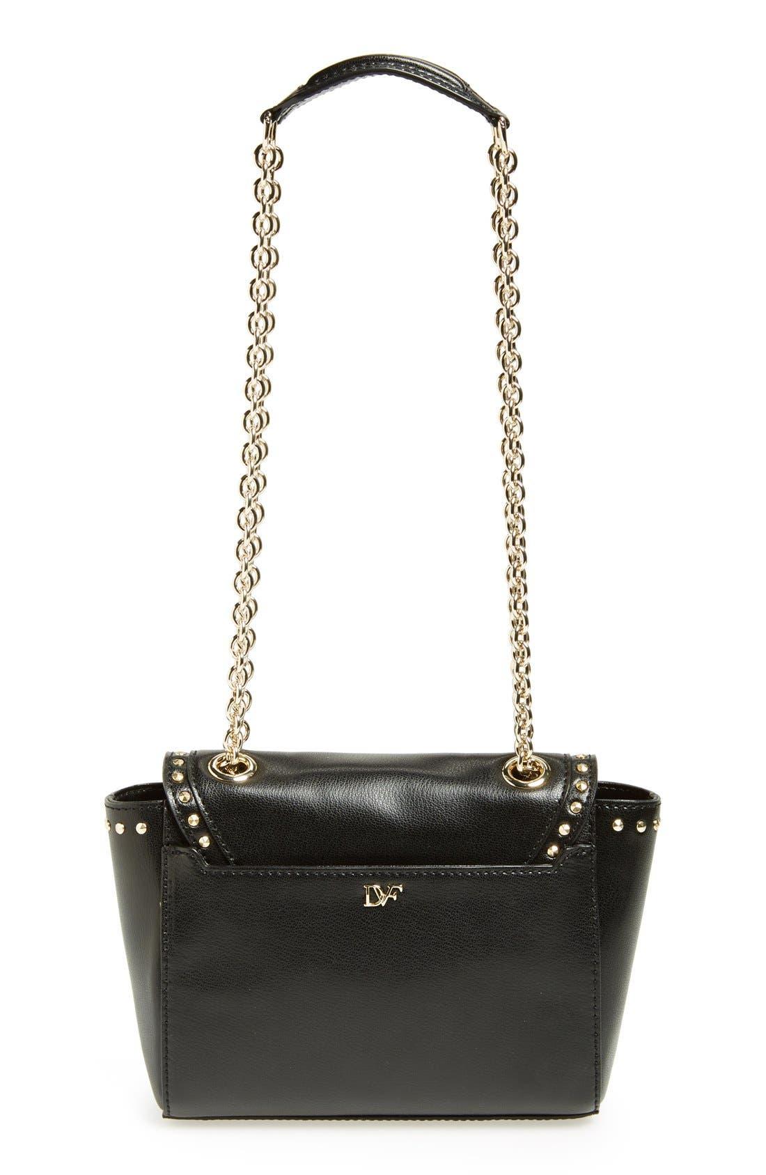 Alternate Image 4  - Diane Von Furstenberg '440 - Mini' Stud Leather Crossbody Bag
