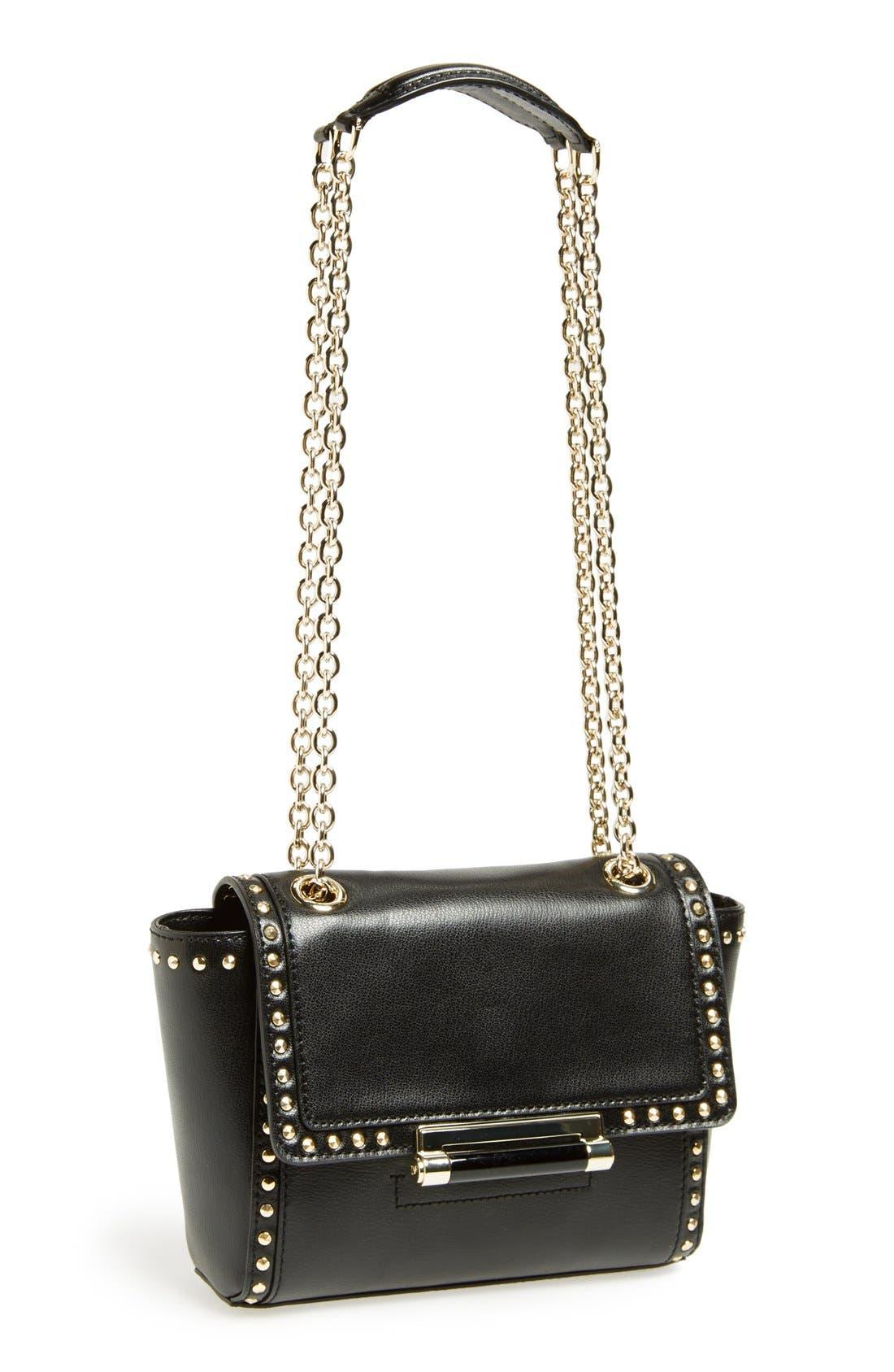Alternate Image 1 Selected - Diane Von Furstenberg '440 - Mini' Stud Leather Crossbody Bag