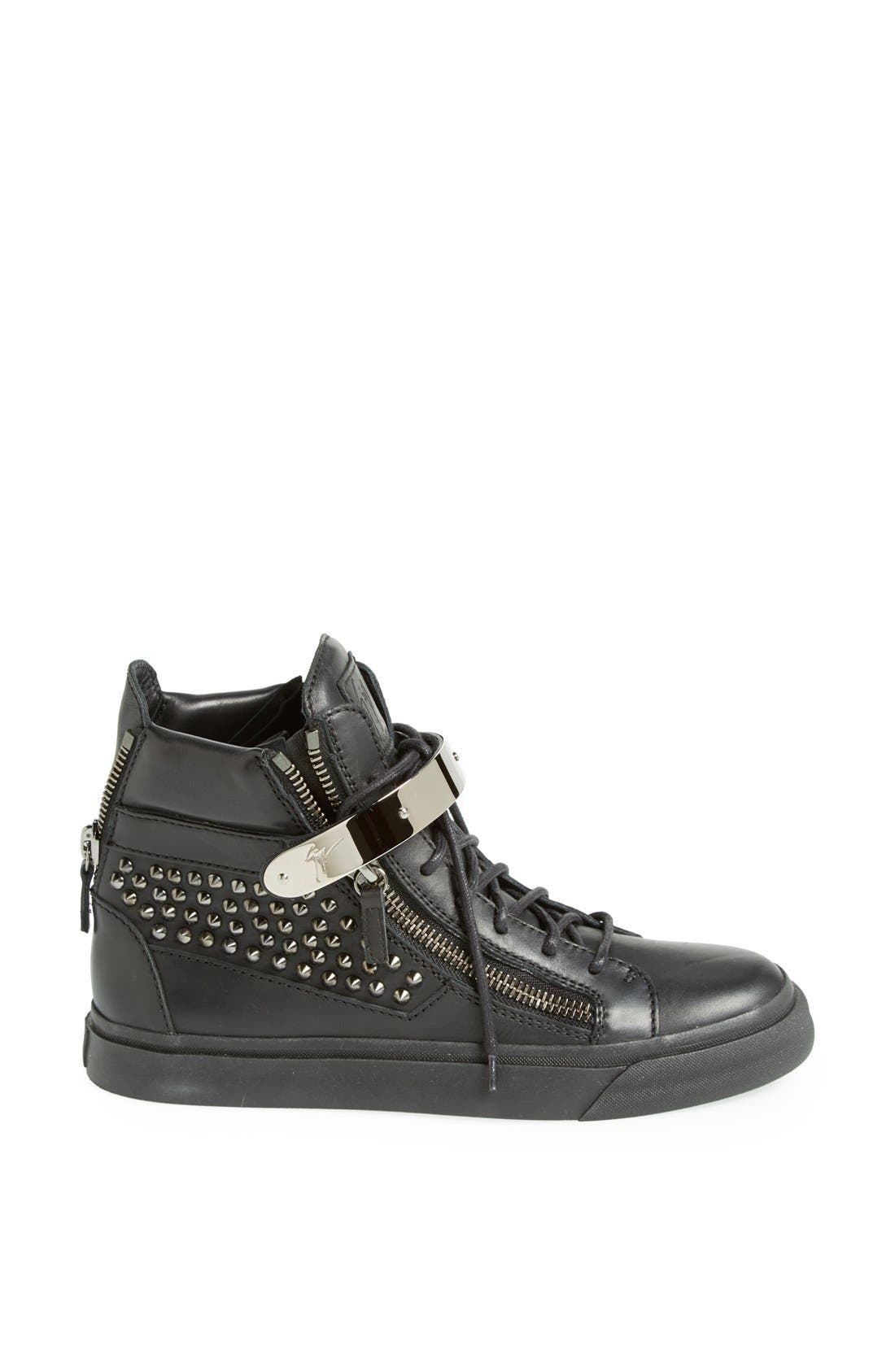 Alternate Image 4  - Giuseppe Zanotti Studded High Top Sneaker (Women)
