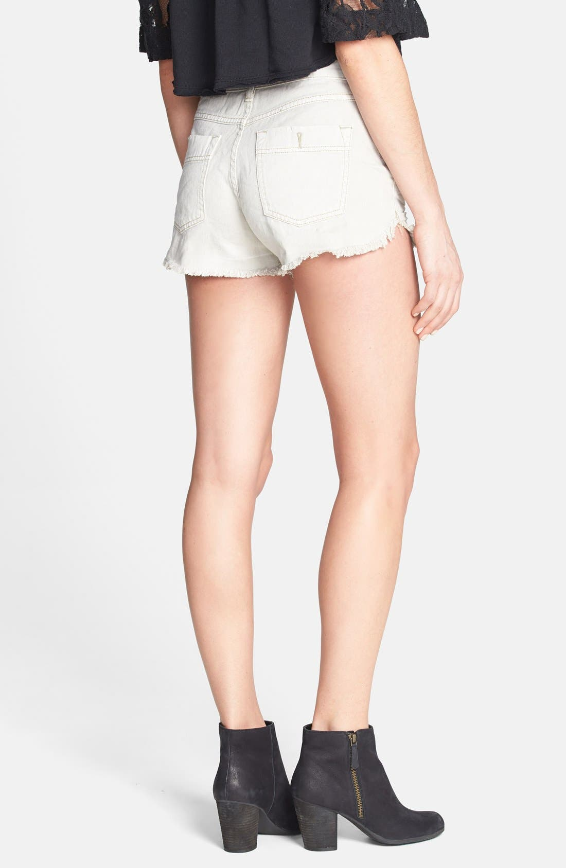 Alternate Image 2  - Free People 'Dolphin' Cutoff Denim Shorts (Chalk)