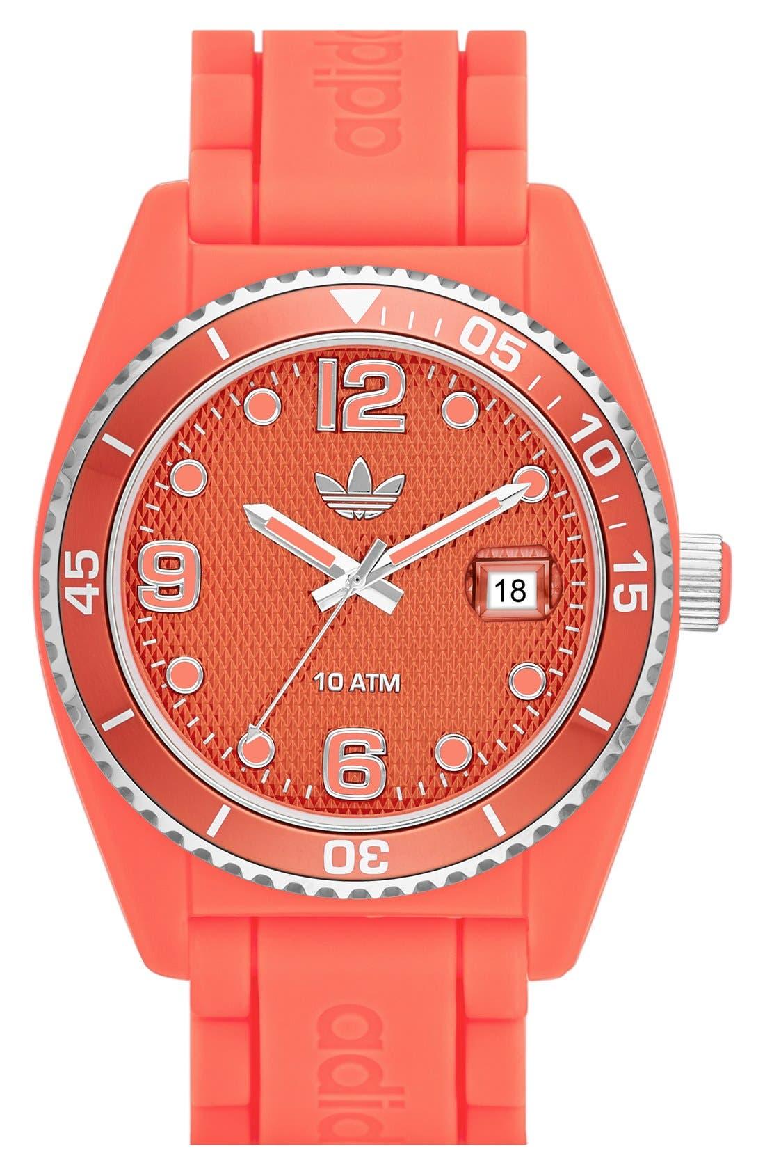 Alternate Image 1 Selected - adidas Originals 'Brisbane' Silicone Strap Watch, 42mm
