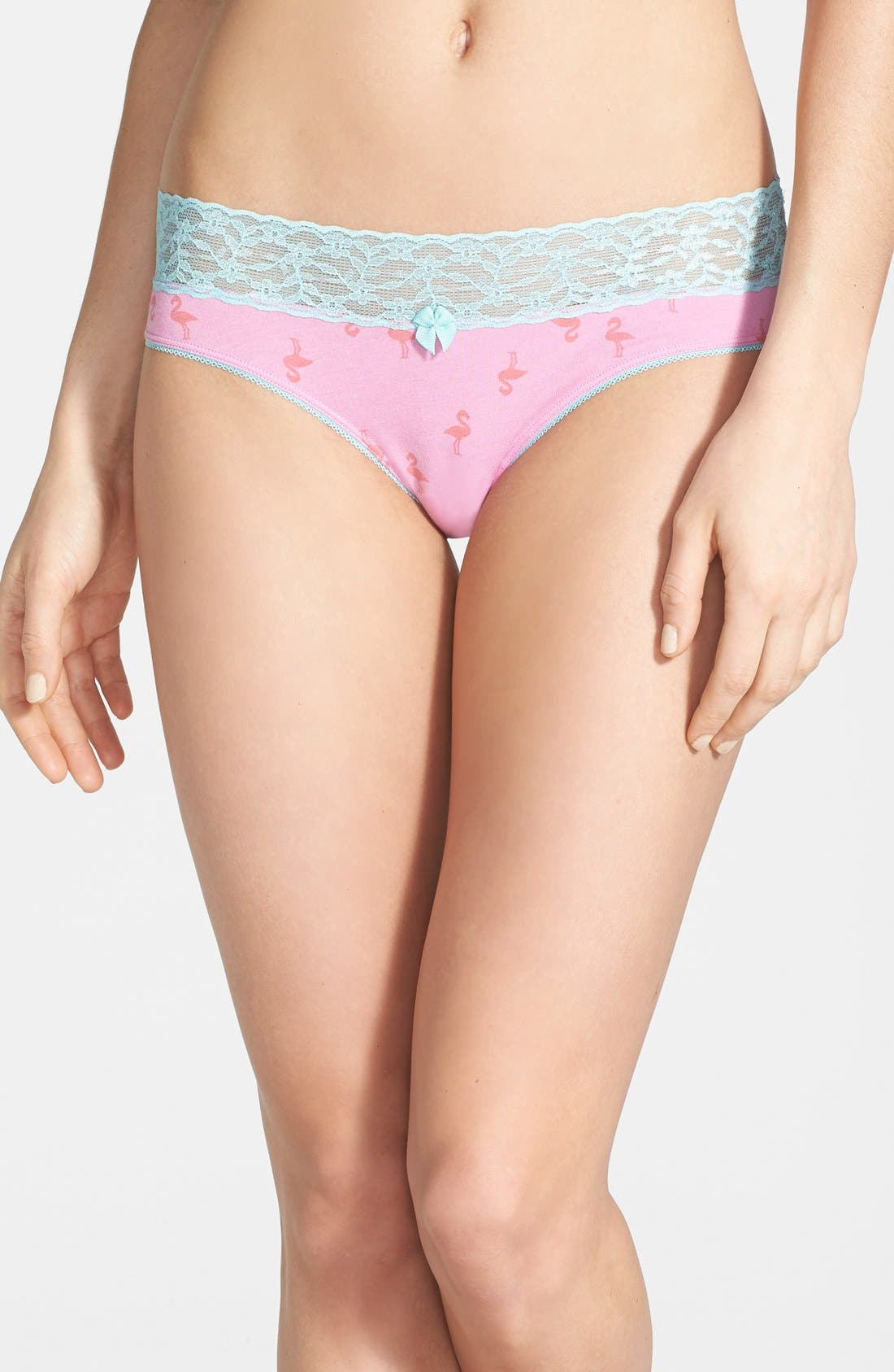 Alternate Image 1 Selected - BP. Undercover Lace Waist Hipster Briefs (Juniors)