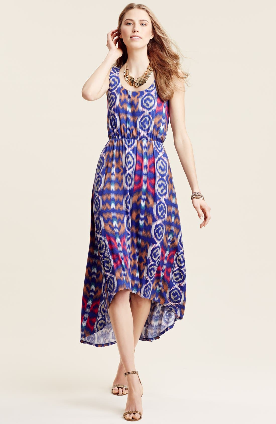 Alternate Image 4  - Felicity & Coco Print High/Low Maxi Dress (Nordstrom Exclusive)