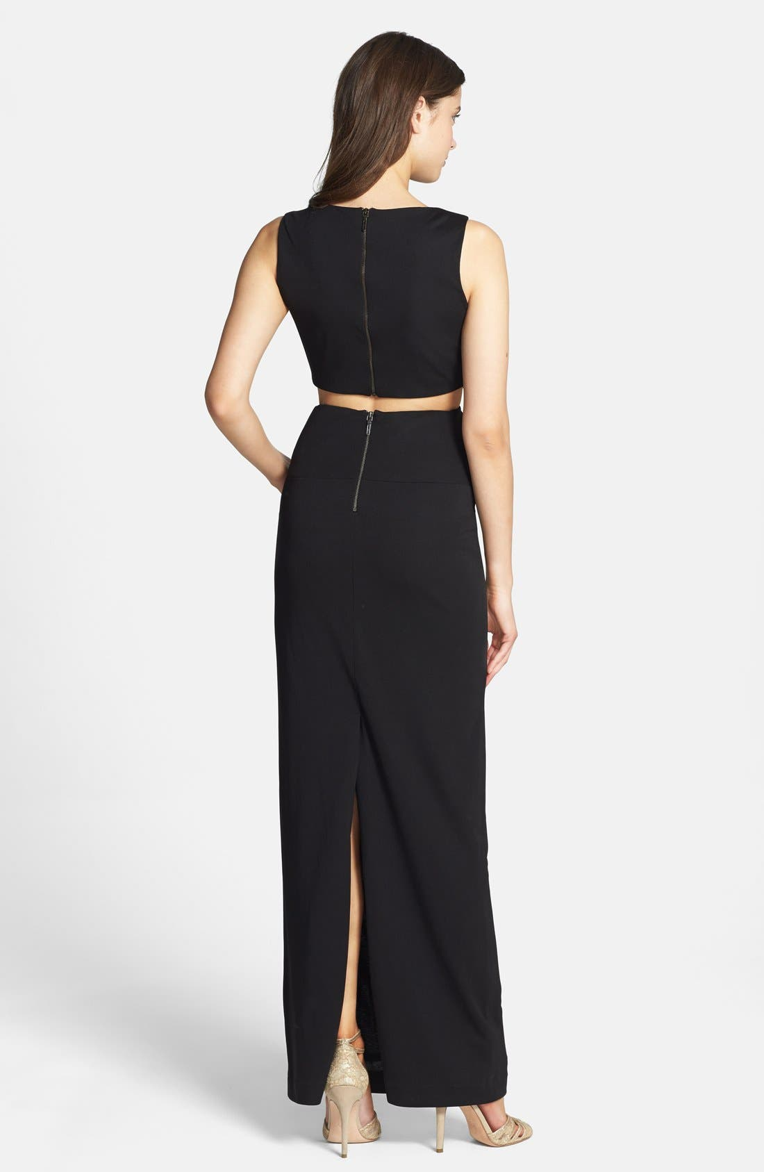 Alternate Image 2  - Nicole Miller Cutout Stretch Jersey Gown