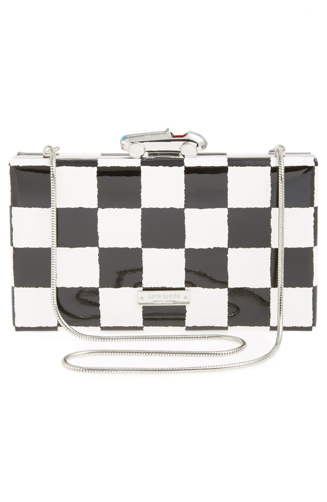 Alternate Image 4  - kate spade new york 'marcelle' patent leather clutch
