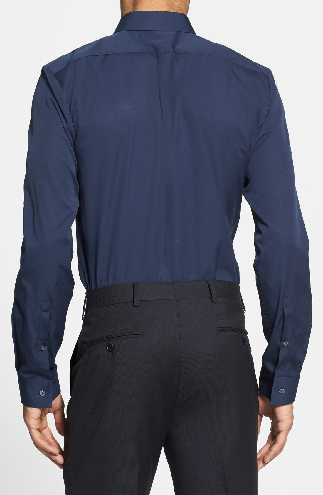 Alternate Image 2  - HUGO 'Evis' Slim Fit Sport Shirt