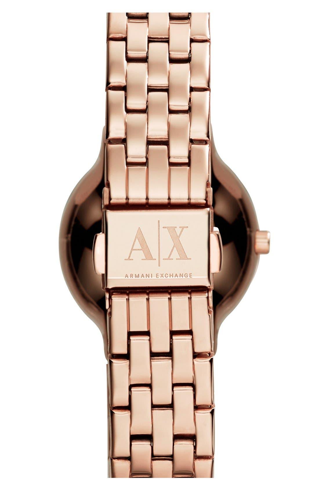 Alternate Image 2  - AX Armani Exchange Pavé Dial Bracelet Watch, 30mm