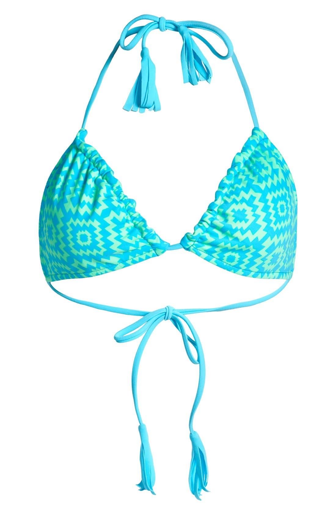 Alternate Image 5  - Smoothies by Gossip 'Ethnic Fusion' Reversible Triangle Bikini Top (Juniors)