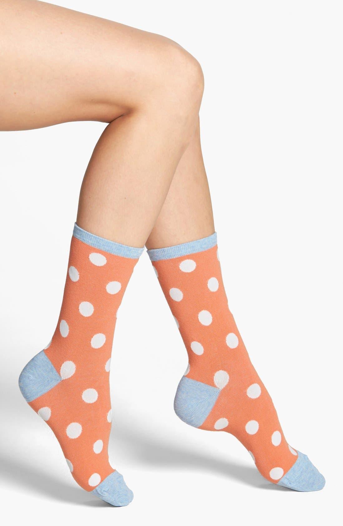Main Image - Hot Sox 'Large Dot' Crew Socks