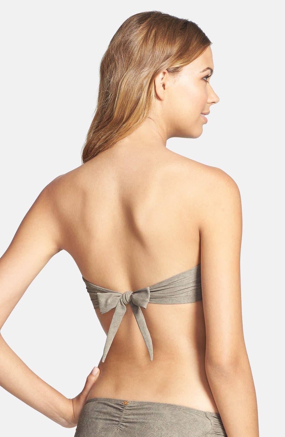 Alternate Image 2  - PilyQ 'Chuchi' Sueded Bead Underwire Bandeau Bikini Top