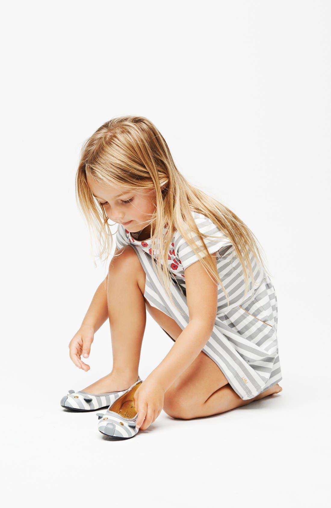 Alternate Image 3  - LITTLE MARC JACOBS Stripe Floral Jersey Dress (Little Girls & Big Girls)