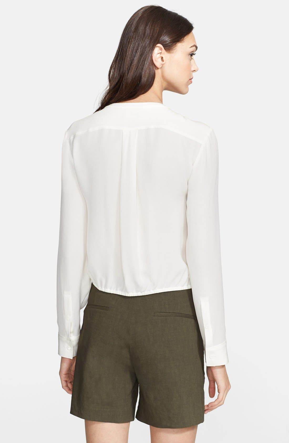 Alternate Image 2  - Theory 'Kevin' Tie Front Silk Blouse