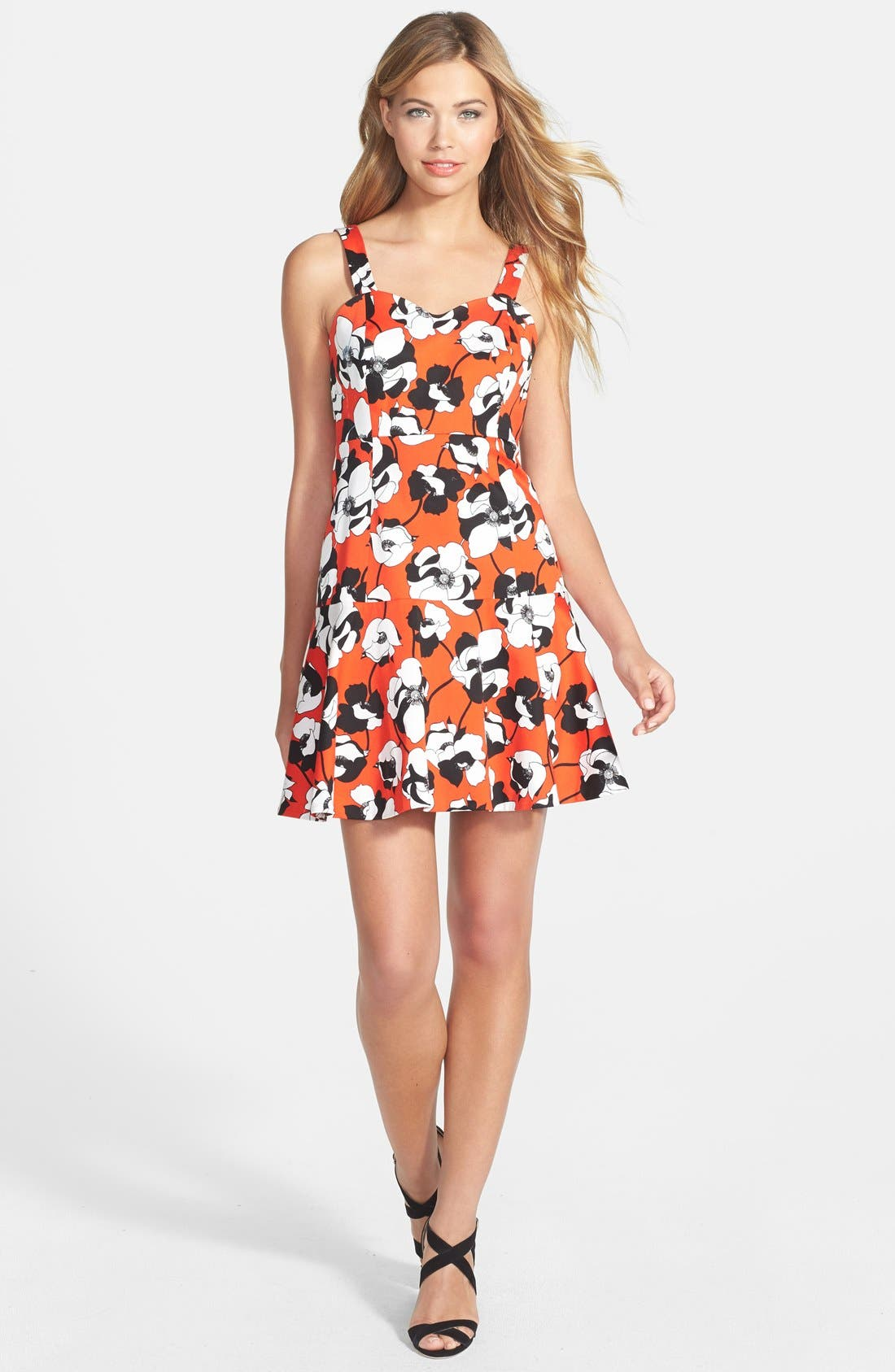 Alternate Image 3  - CeCe by Cynthia Steffe Print Stretch Cotton Fit & Flare Dress