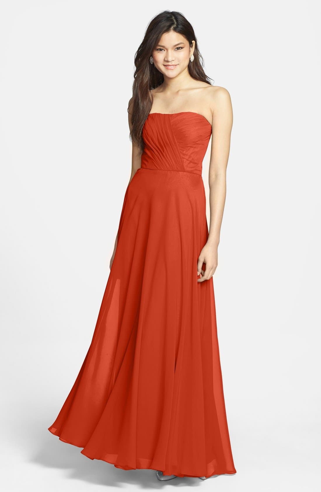 Main Image - Hailey by Adrianna Papell Strapless Chiffon Gown