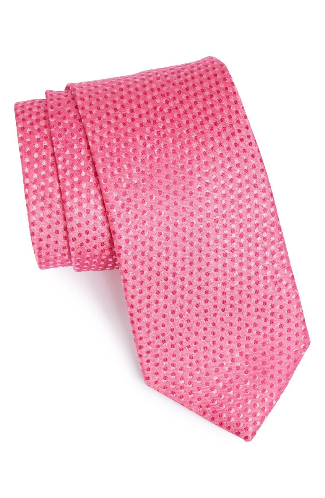 Alternate Image 1 Selected - Bugatchi Geometric Dot Silk Tie