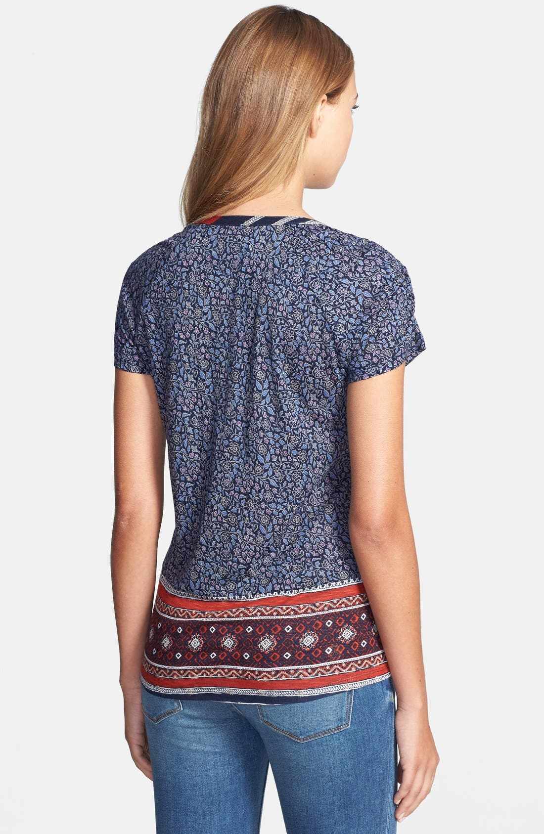 Alternate Image 2  - Lucky Brand Scarf Print Woven Top