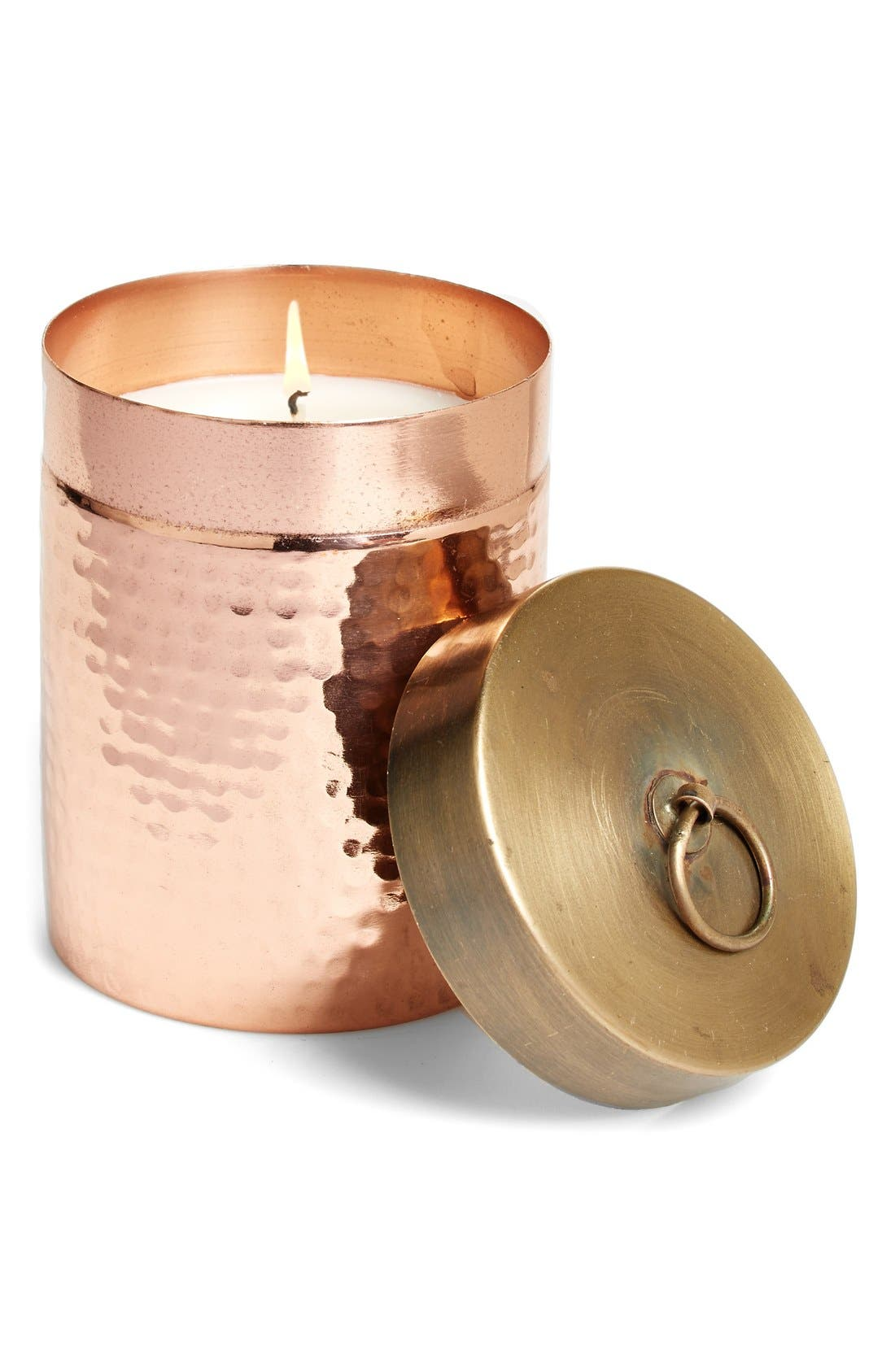 Main Image - Found Goods Market 'Homestead' Hammered Canister Candle