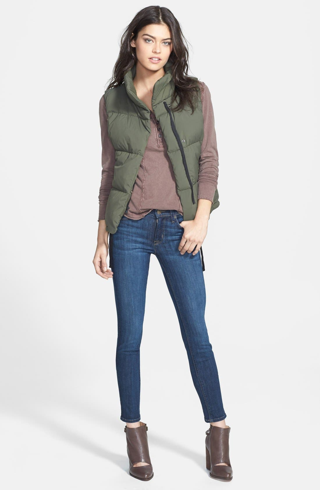 Alternate Image 12  - Hudson Jeans 'Collette' Skinny Jeans (Cascade) (Nordstrom Exclusive)