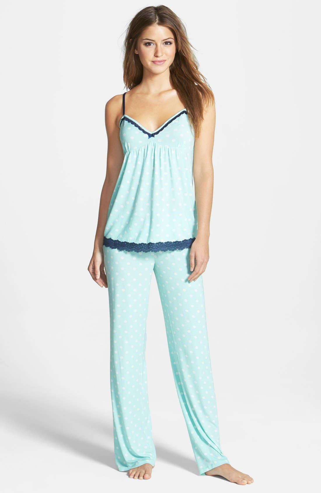Alternate Image 1 Selected - PJ Salvage 'Modal Essentials' Lace Trim Camisole Pajamas (Nordstrom Exclusive)