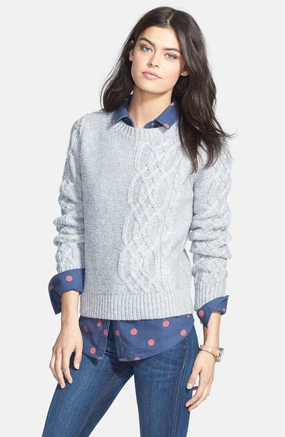 Alternate Image 1 Selected - Hinge® Cable Knit Sweater