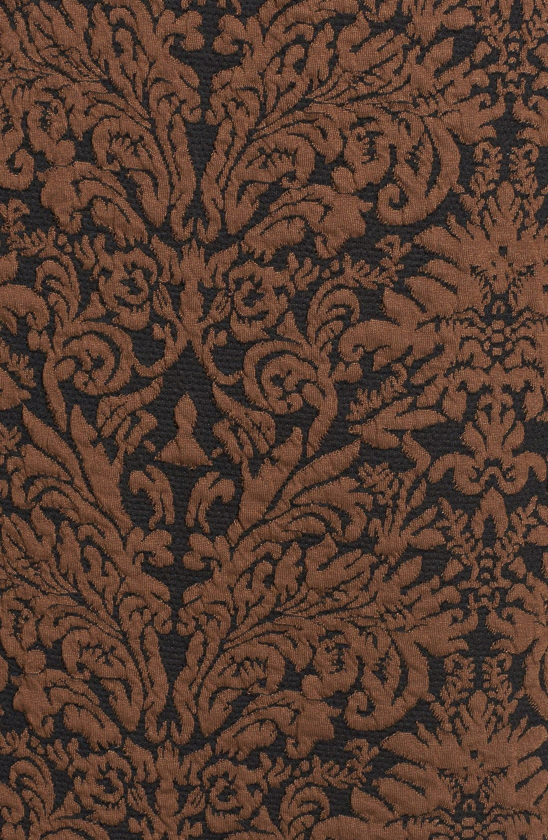 Alternate Image 4  - Vince Camuto Long Sleeve Jacquard Sheath Dress (Regular & Petite)
